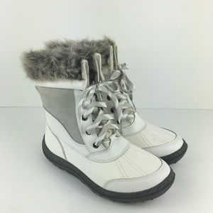 Merona Fur-Lined White Winter Boots Size 7